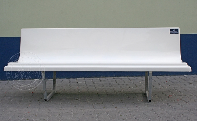 Preview ofBench with galvanized tubular frame 2