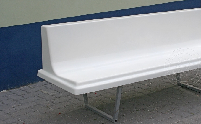Preview ofBench with galvanized tubular frame 3